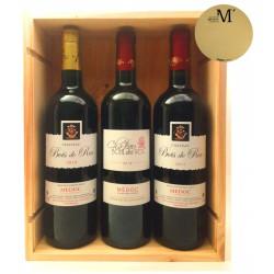 Caja de Madera Vinos de Médoc