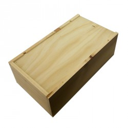 2 Bottles Wooden Box