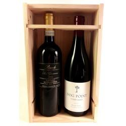 Caja de Madera Vinos Prestigiosos estranjeros